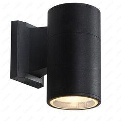 3 W/5 W/7 W/10 W/15 W/20 W LED COB na zewnątrz kinkiety ścienne światła piwnicy ogród drzwi wodoodporna lampa oprawa czarny wykończenie w Reflektory od Lampy i oświetlenie na