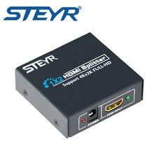 Divisor do distribuidor do sinal do porto do divisor hdmi 1.4 1 em 2 para fora o apoio 2k * 4k steyr hdmi divisor 1x2 ultra hd 4k