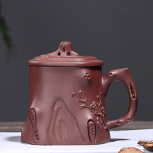 PINNY 320ML Yixing Purple Clay Plum Pile Tea Mugs Ceramic Traditional Chinese Teacups Hand Made Ceremony Accessories