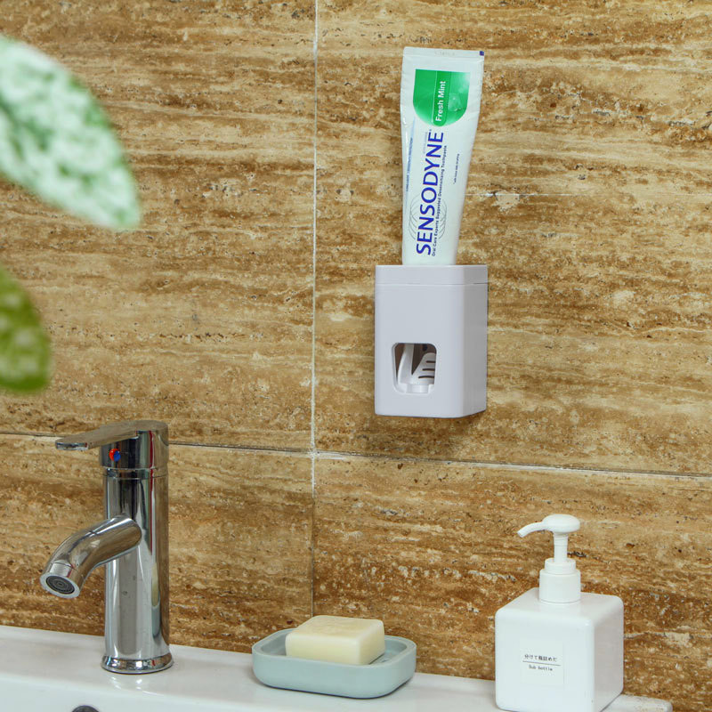 Yooap JV-75 Auto Squeezing Toothpaste Dispenser Bathrooms that Creative Suction Cup Wall Mounted Automatic Toothpaste Dispenser