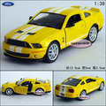 Candice guo! New arrival hot sale 1:38 mini Ford Shelby GT500 sports car alloy model car toy 1pc