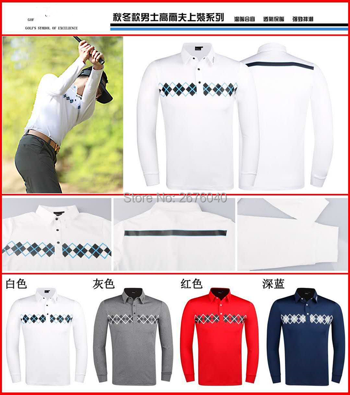 Golf Long Sleeve PXG Golf T-Shirt Long Sleeve Men's Sportswear TIT Long Sleeve 4 Color S-XXL Select Casual Golf Clothes Free Shi цена 2017