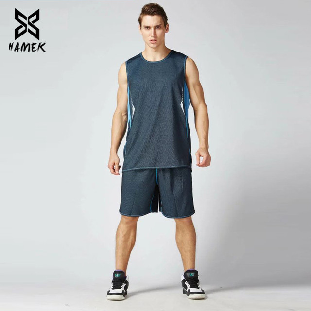 Basketball Set Uniforms Training Suits Running Breathable Sports Set 4