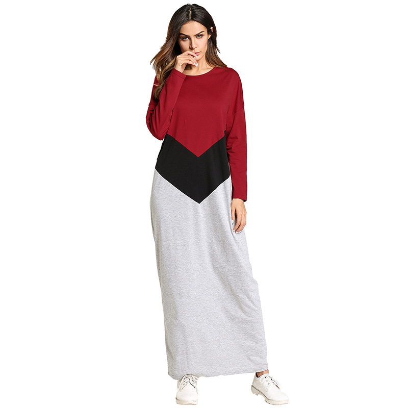 Casual Muslim Cotton Maxi Dress Abaya Long Robe Gowns Kimono Jubah ...