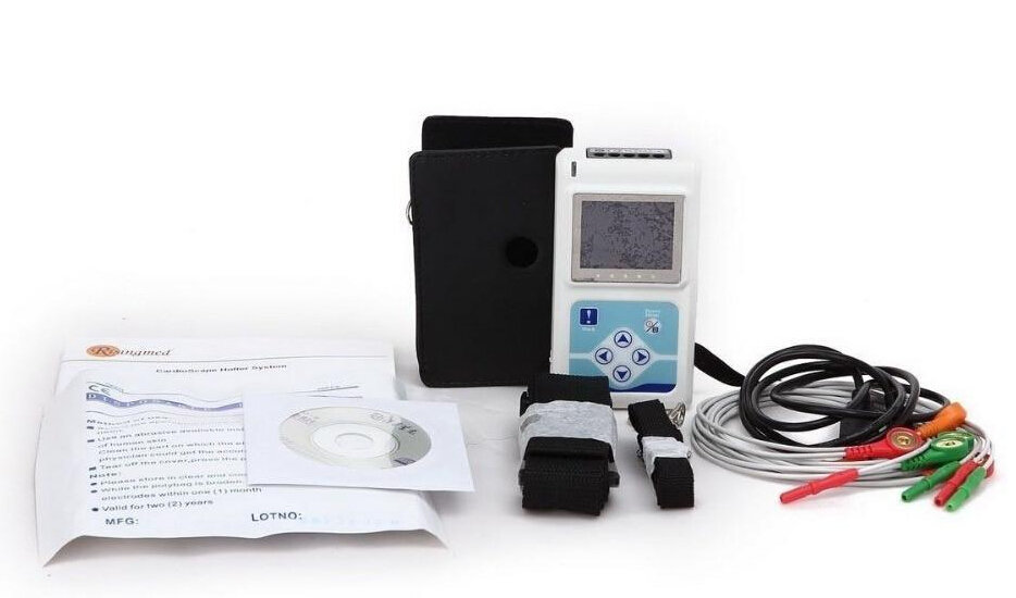 24 Hours Contec TLC5000 ECG / EKG System Analysis Monitor with Software 12 Channels 10 leads Ambulatory ECG EKG Holter Best