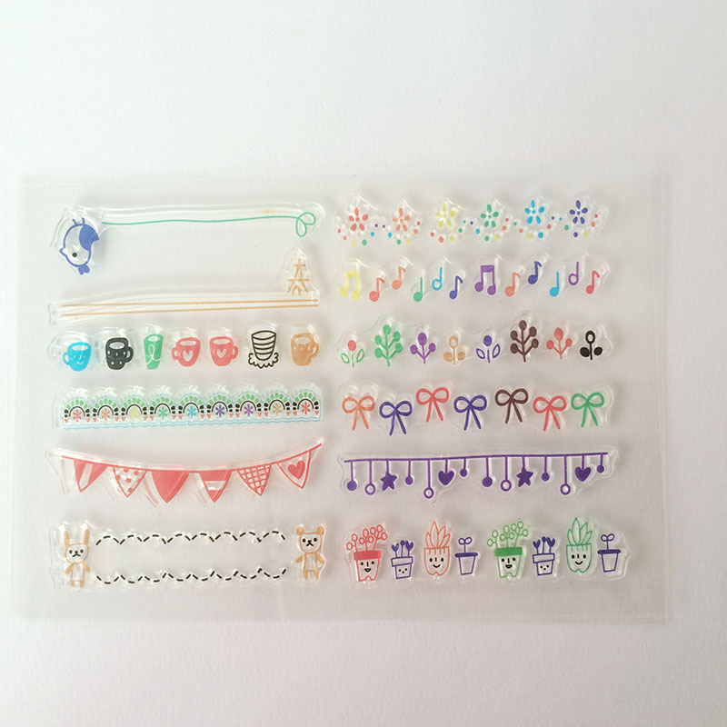 все цены на Colorful clear stamps birthday gift card flag scrapbooking DIY craft  rubber stamps Christmas Gift онлайн