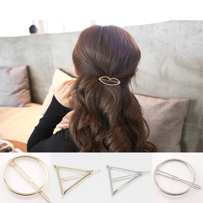 LNRRABC Gold Silver Color Hair Clip Metal Hairpin Women Hair Jewelry Accessories Headdress Barrette accesorios para el pelo