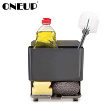 ONEUP Free Punch Sponge Kitchen Box Draining Rack Dish Self Draining Sink Storage Rack Bathroom Cosmetics Organizers Boxes