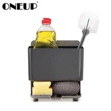 ONEUP Free Punch Sponge Kitchen Box Draining Rack Dish Self Draining Sink Storage Rack Bathroom Cosmetics Organizers Boxes