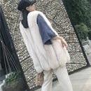 Fox fur grass vest female medium long plush coat Rex rabbit shoulder big water drop type whole skin fox armour