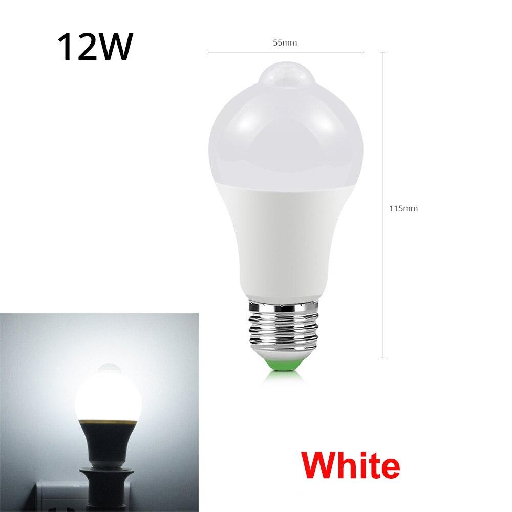 12 Вт, 18 Вт, датчик движения, светодиодный светильник для лестничных коридоров, 110 В, 220 В, для прохода, дверного проема, инфракрасный, индукционный, светодиодный, Ночной светильник, Сенсорная лампа - Испускаемый цвет: 12W White