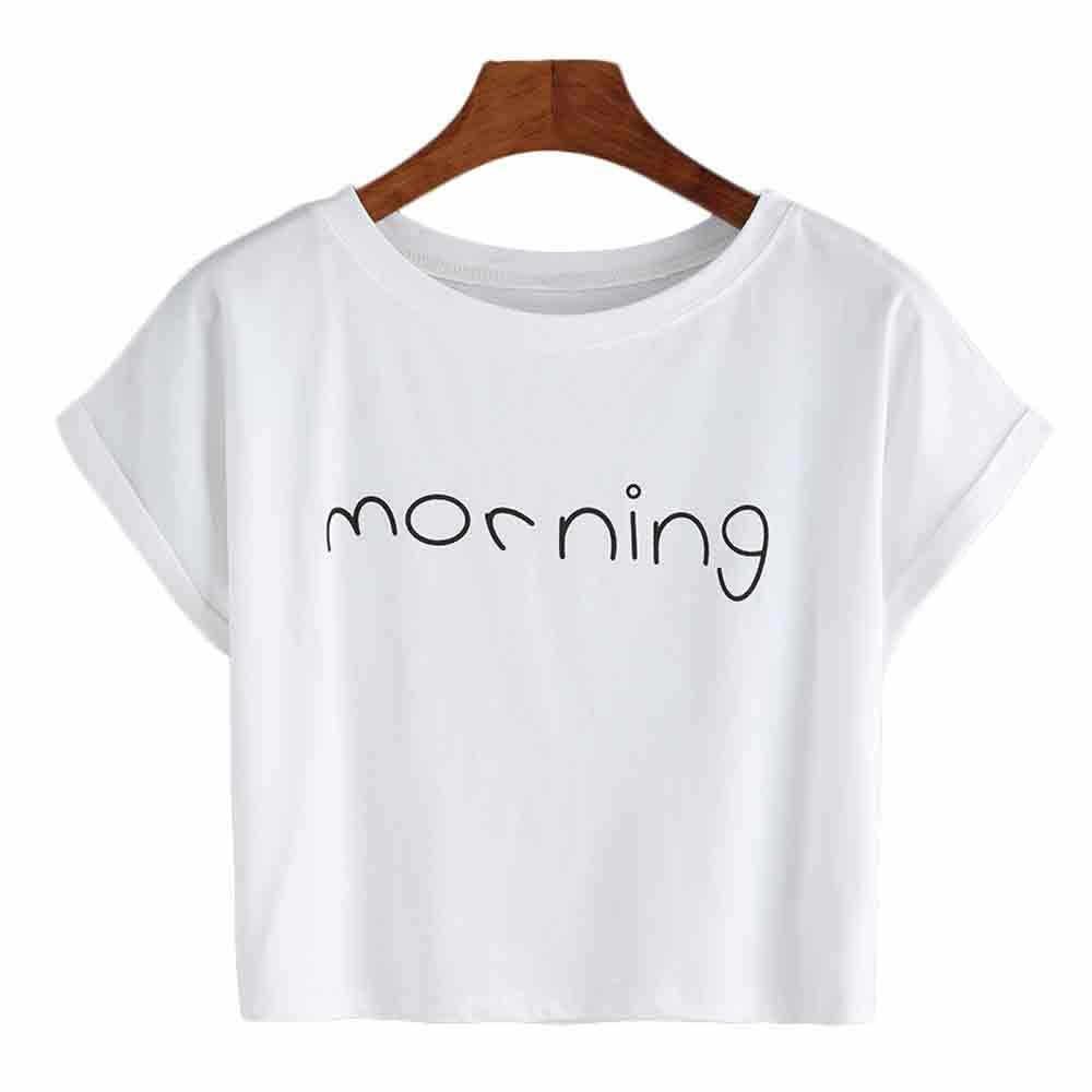 Для женщин модные, пикантные короткие пупок короткий рукав Футболка Camiseta Mujer Haut Femme Modis F1
