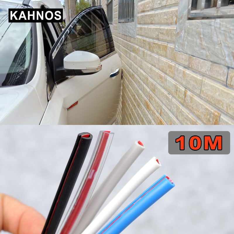New 4 Meter 13 Feet Car Styling Door Protection Strips Rubber Edge Doors Moldings Side Protector Sticker Scratches Vehicle Last Style Auto Replacement Parts Exterior Parts