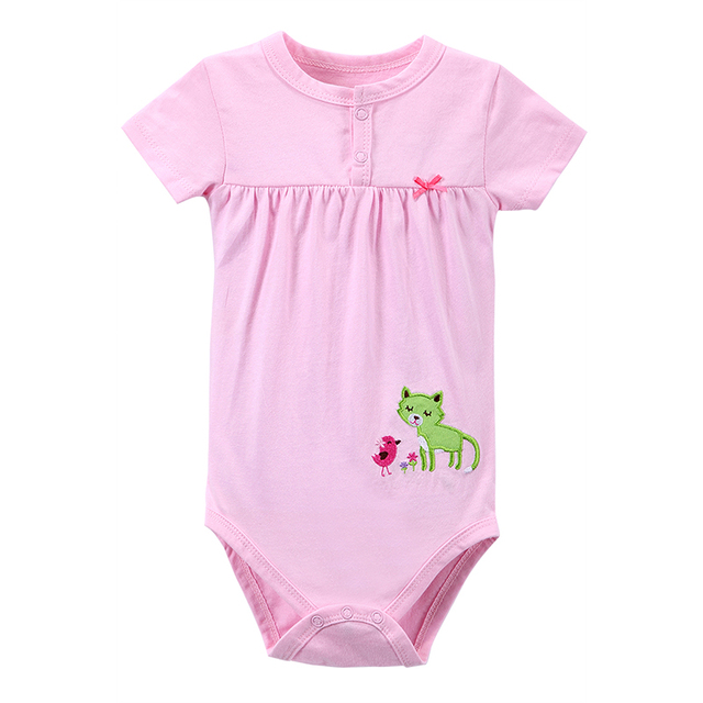 Newly Pink Baby Girl Clothing Newborn Body Baby Rompers Triangle 100% Cotton Jumpsuit Mother Nest Infant Baby Girl Clothes 0-12M