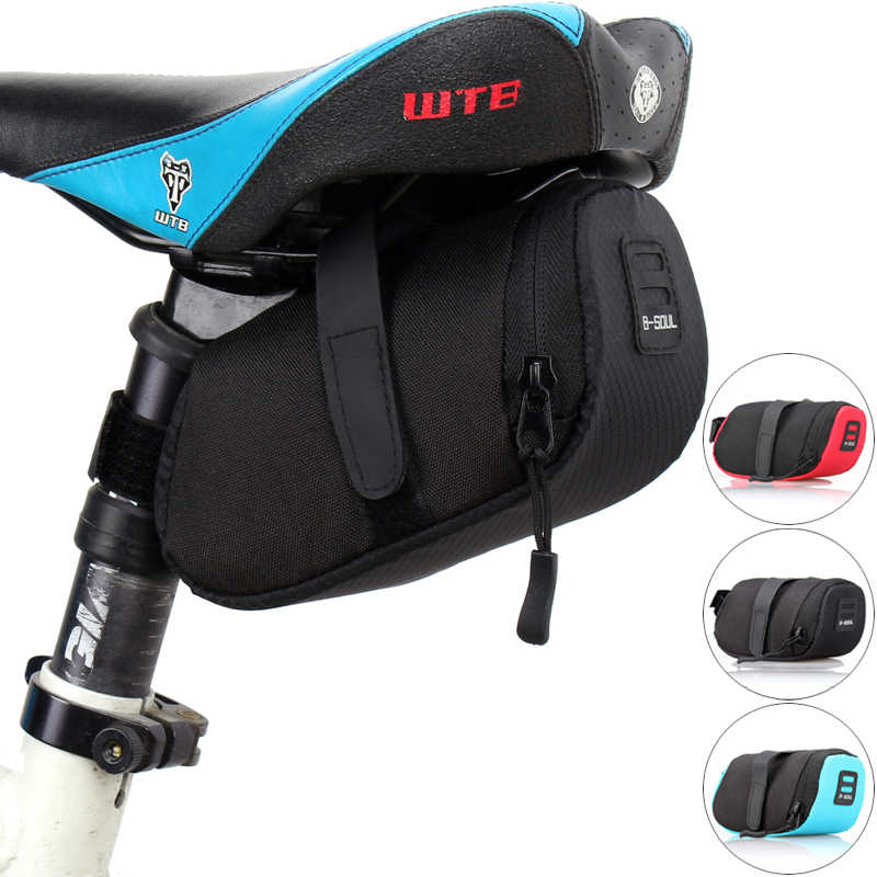 Cycling Mountain Bike Bags Bicycle Saddle Bag Cycling Back Seat Tail Pouch Bags Black Blue Red