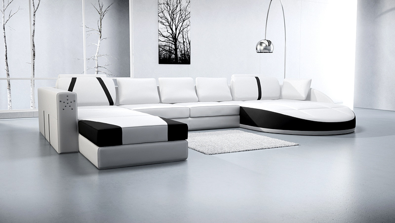 Modern design house furniture real leather sofa corner A03-in Living ...