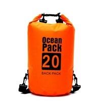 2L/5L/10L/15L/20L Водонепроницаемый сухой мешок Кемпинг лодки Каякинг рафтинг каноэ синий зеленый оранжевый цвет открытый мешок