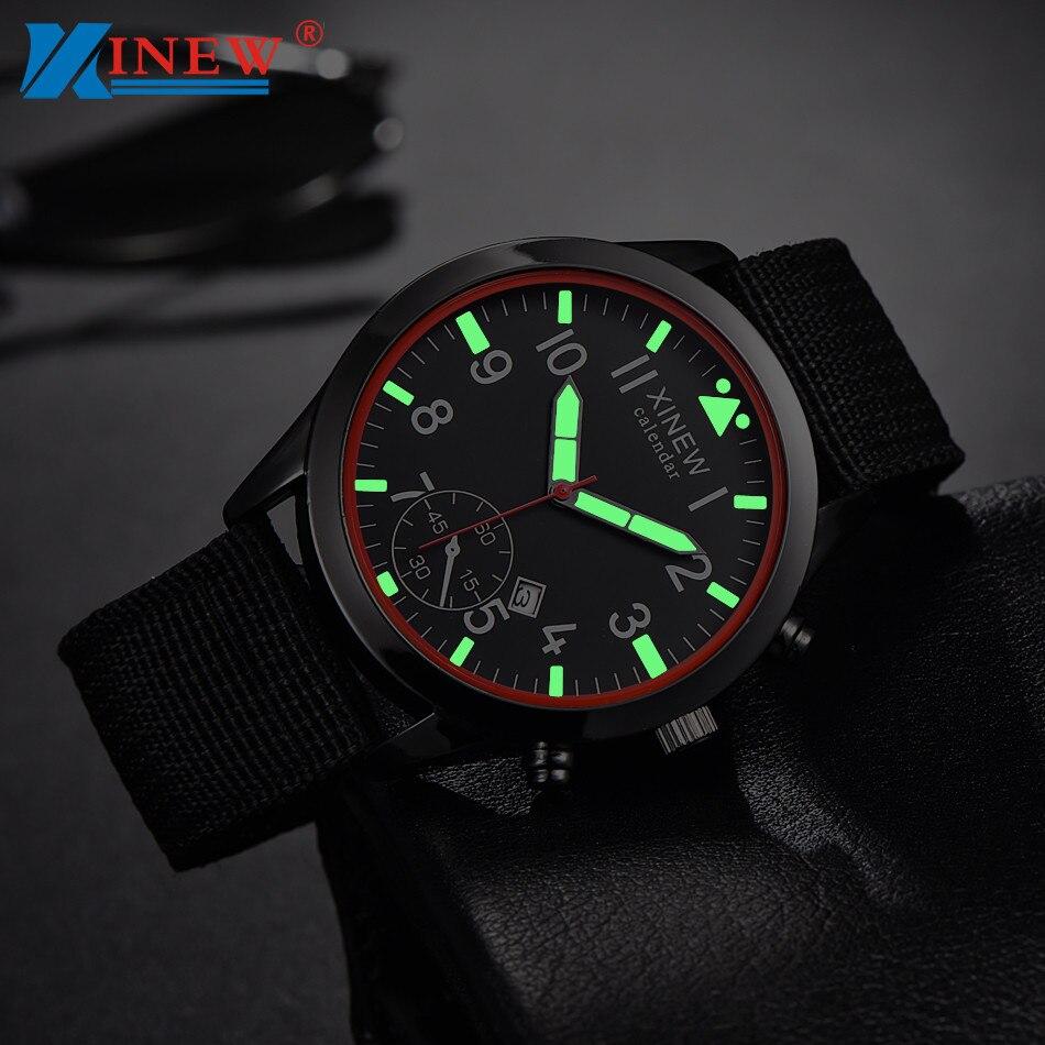 Army-Watch Military Quartz Black Luminous Luxury Sport Relogio Masculino Mens F533 Date