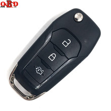 HKOBDII 433MHZ With 49 chip for New Ford Mondeo Escort After 2014 Keyless Entry Flip Key Fob Remote with Logo