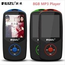 2017 Nueva Original RUIZU X06 Bluetooth Deportes Reproductor MP3 8 GB 1.8 Pulgadas de La Pantalla 80 horas de Alta Calidad de Sonido Sin Pérdidas con Grabadora FM