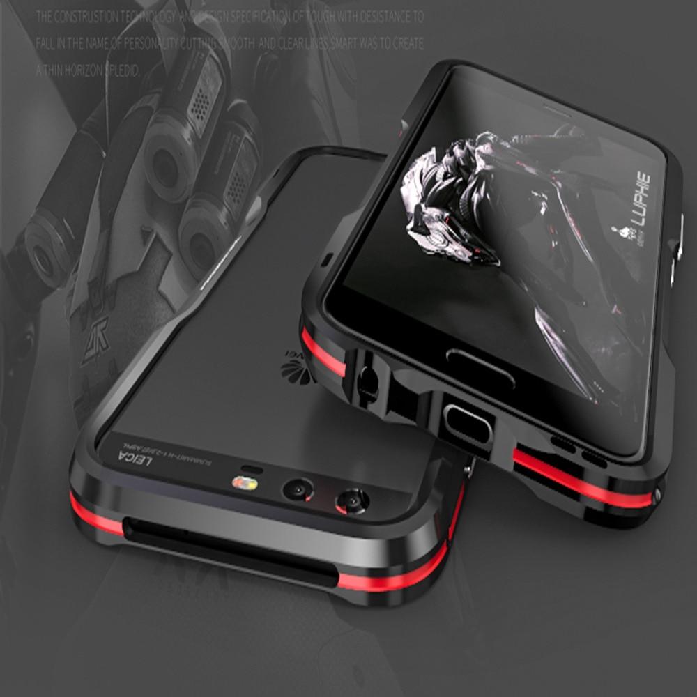bilder für Luphie Stoßfest Coque Aluminium für Huawei P10 P10 Plus Metal Blade Stoßfeld-fall Abdeckung smartphone