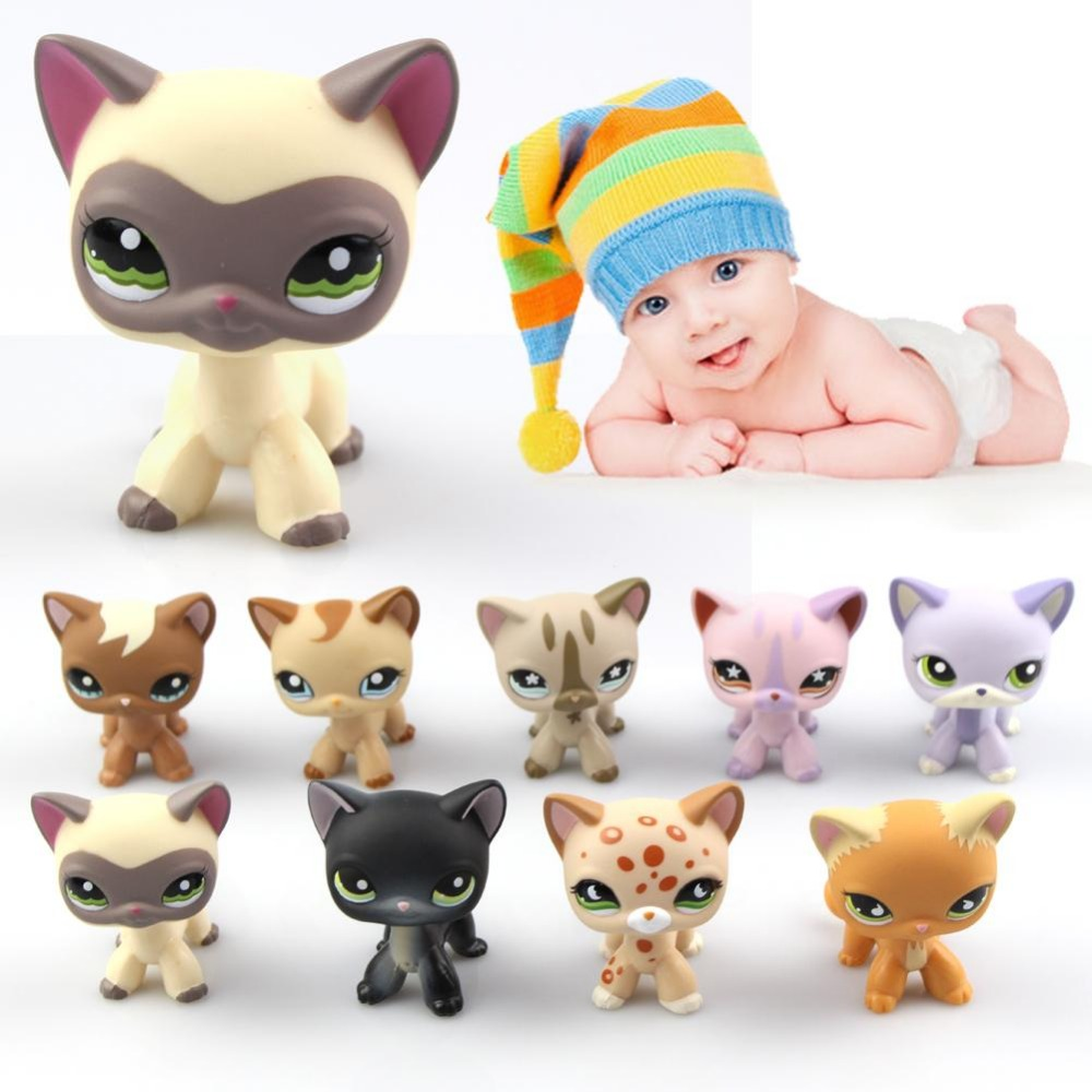 9 Types Lovely Genuine Pet Collection Action Figure Original Many Pet Shop Cats Kids Gifts genuine pet shop 577 brown white