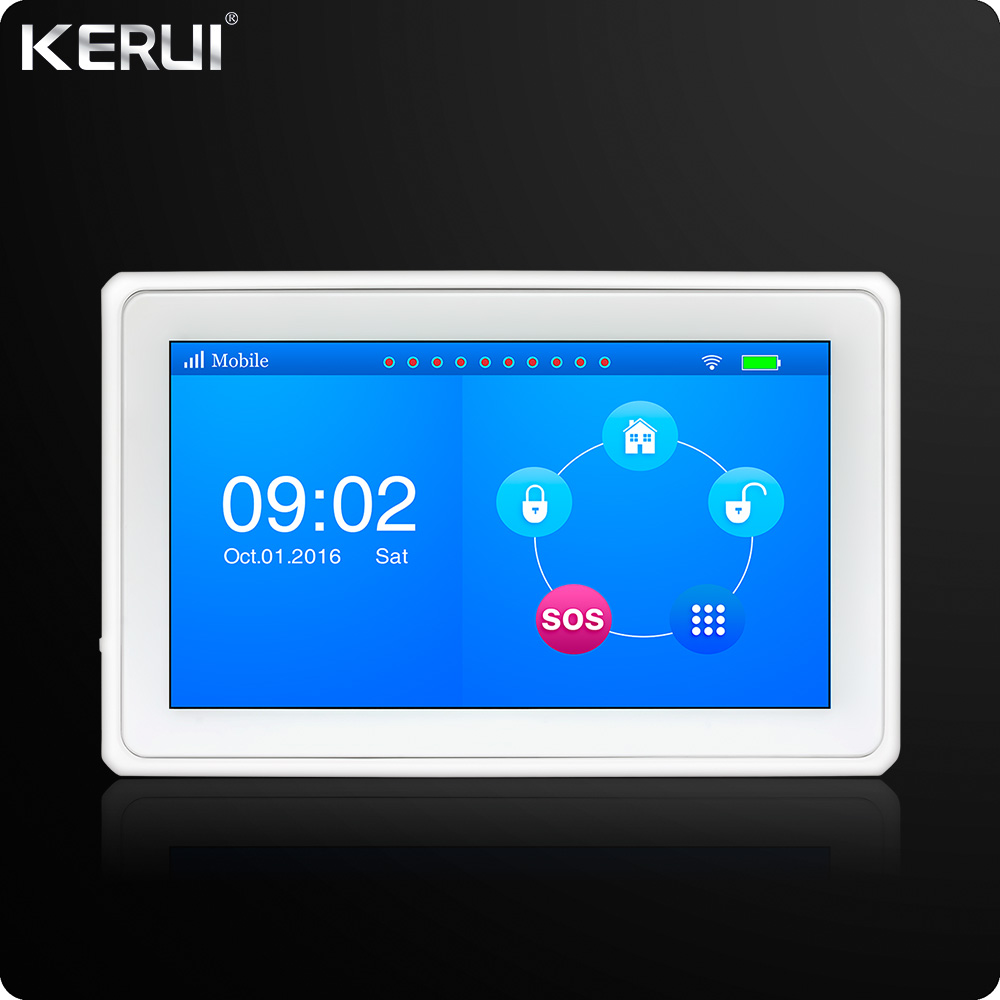 Kerui k7 WIFI GSM Alarm System 7 Inch TFT Color Display Android ISO App Remote Control