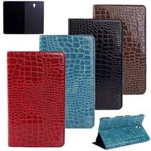 Luksusowe krokodyl wzór odwróć stojak ochronny przypadku dla Samsung Galaxy Tab S 8 4 T700 T705 SM-T700 SM-T705 8 4 Tablet Case + film tanie tanio bigmzpai Osłona skóra 8 4 WLD-T700pad Stałe Moda For Samsung Galaxy Tab S T700 T705 Odporność na spadek Ochrona przed kurzem