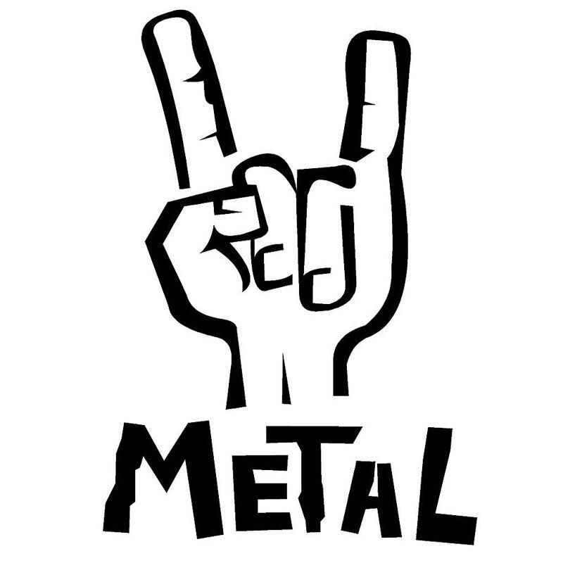 12 7cm 18cm heavy metal hand decal sign of the horns car truck vinyl