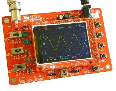 DSO138 Digital Oscilloscope DIY Kit DIY Parts For Oscilloscope Making Electronic Diagnostic-tool Learning Osciloscopio Set 1Msps