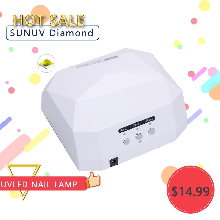 Nail Dryer&FREE SHIPPING Pofession Sensor 36W LED Diamond Lamp Nail Dryer Fast Drying For Nail Art UV Gel nail dryer