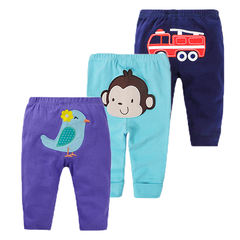 3Pcs Baby Pants Spring Baby Boy Clothes Cartoon Newborn Pants Cotton Baby Girl Clothing Roupas Bebe Infant Baby Trousers