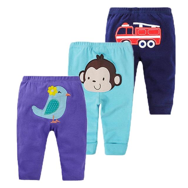 2c1a9e2b8104 3Pcs Baby Pants Spring Baby Boy Clothes Cartoon Newborn Pants Cotton ...