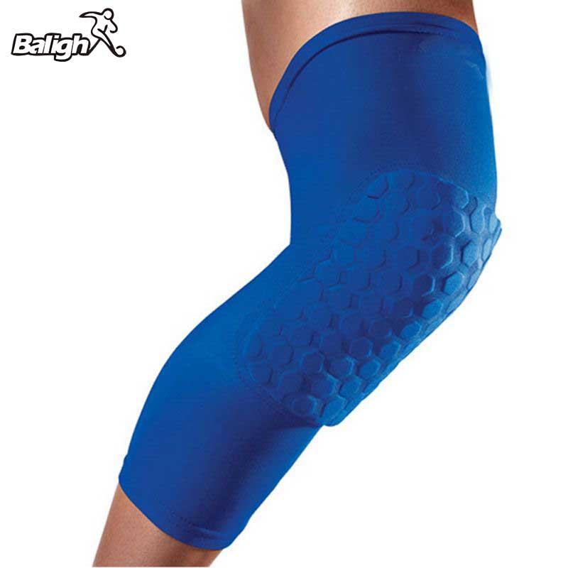Hot Sports Kneepad Breathable Men Sports Honeycomb Long Knee Support Pad Protector Sport Basketball Leg Sleeve Kneepad