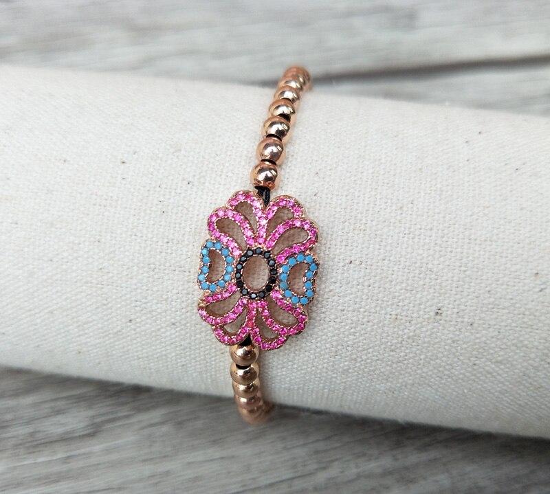 5Pcs Micro Pave CZ Turkish Style Connector Charm Beads Bracelet Braided Macrame handcraft Jewelry Gift BG148