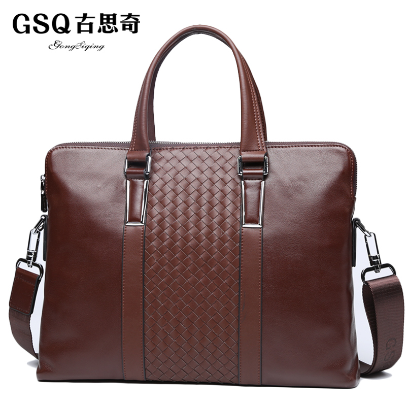 gsq moda weave couro premium Tipo de Ítem : Man Bag