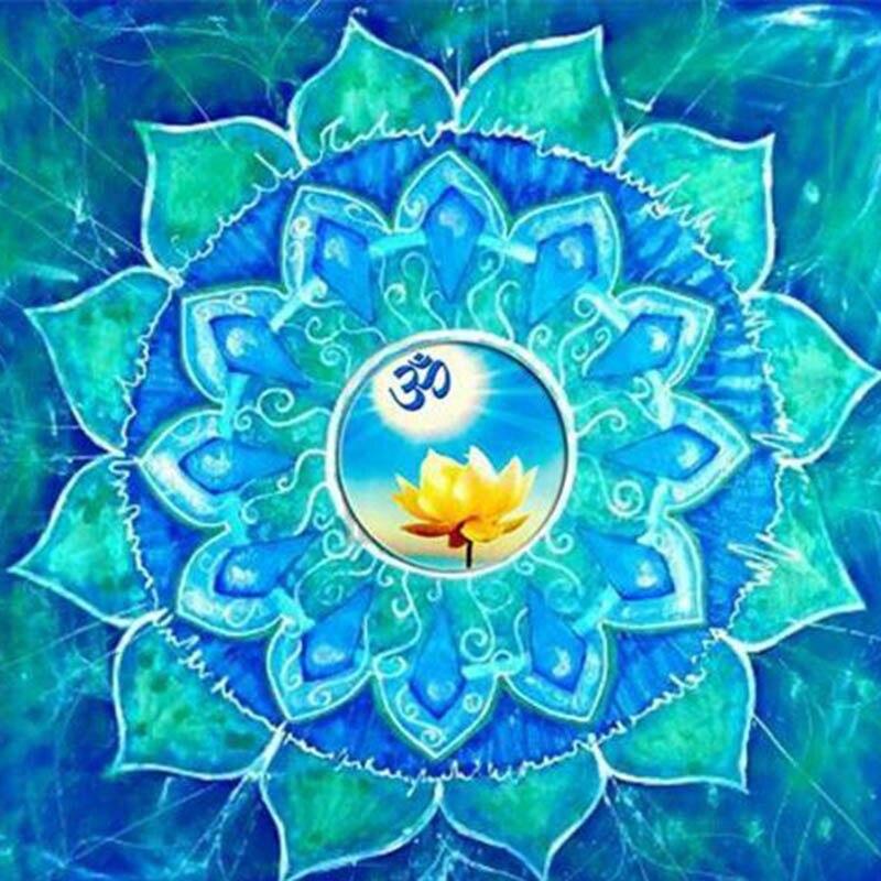 Nodiamante Bordado Kit Completo Universo Meditacion Mandala 5d Diy - Pinturas-de-mandalas