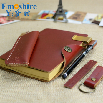 Hot Vintage Notebook Paper Leather Diary Journal Spiral Kraft Notebook Notepad Office School Supplies Gift Note Book N113