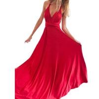 Party Multiway Bridesmaids Convertible Robe Longue Femme Sexy Women Boho Maxi Club Dress Red Long Dress