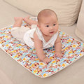 2Pcs/Set 30x45cm 50x70cm 100% Cotton Baby Waterproof Bed Nappy Changing Sheet Mat Cover Urine Pad Mattress SAD-4017