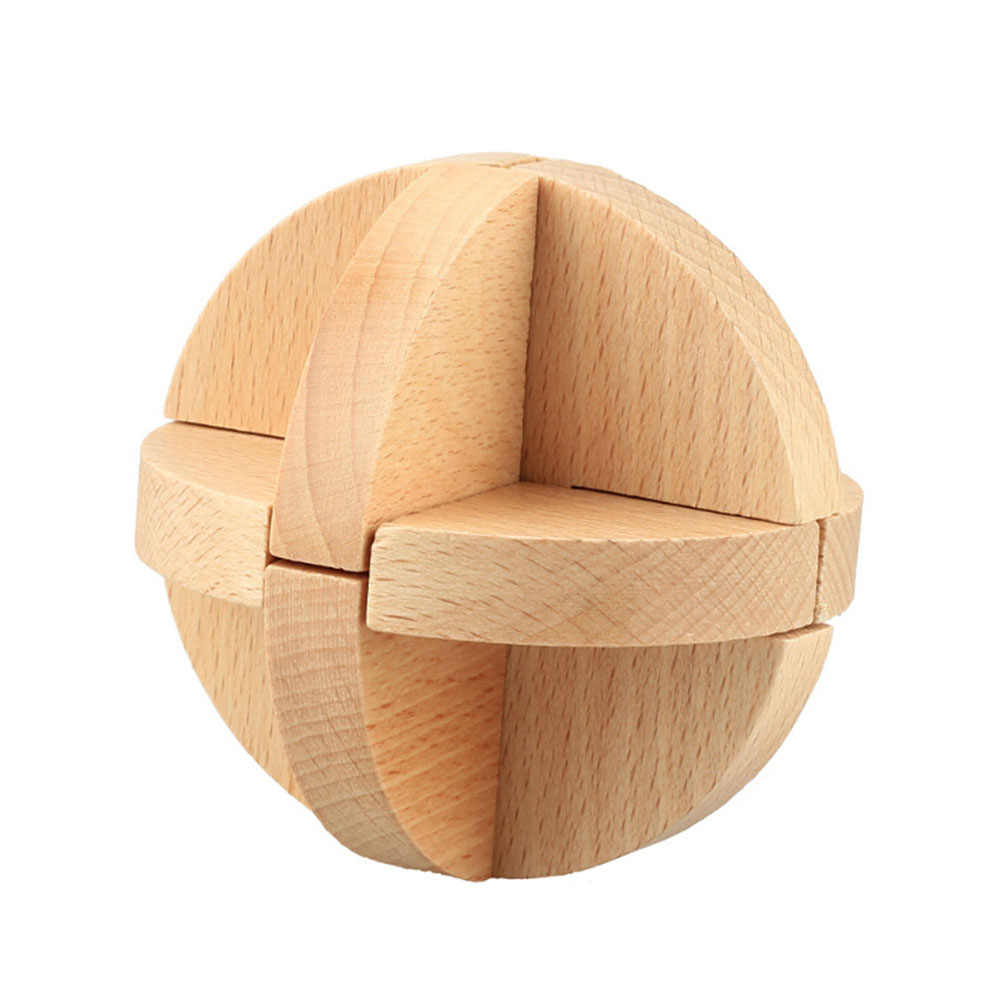 2017 Funny Excellent Design IQ Brain Teaser Difficult 3D Wooden  Interlocking Burr Puzzles Game Toy For Kids