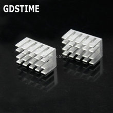 200 Pieces Gdstime 22x13x11mm Radiator Aluminum Heatsink Extruded Heat sink 22MM for Electronic Dissipation