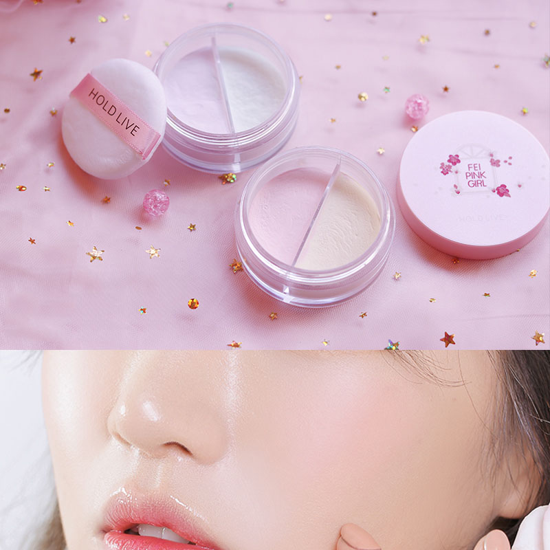 HOLD LIVE Loose Powder Makeup Waterproof Transparent Powder Oil Control Brighten Face Setting Powder Pallete Make Up maquiagem