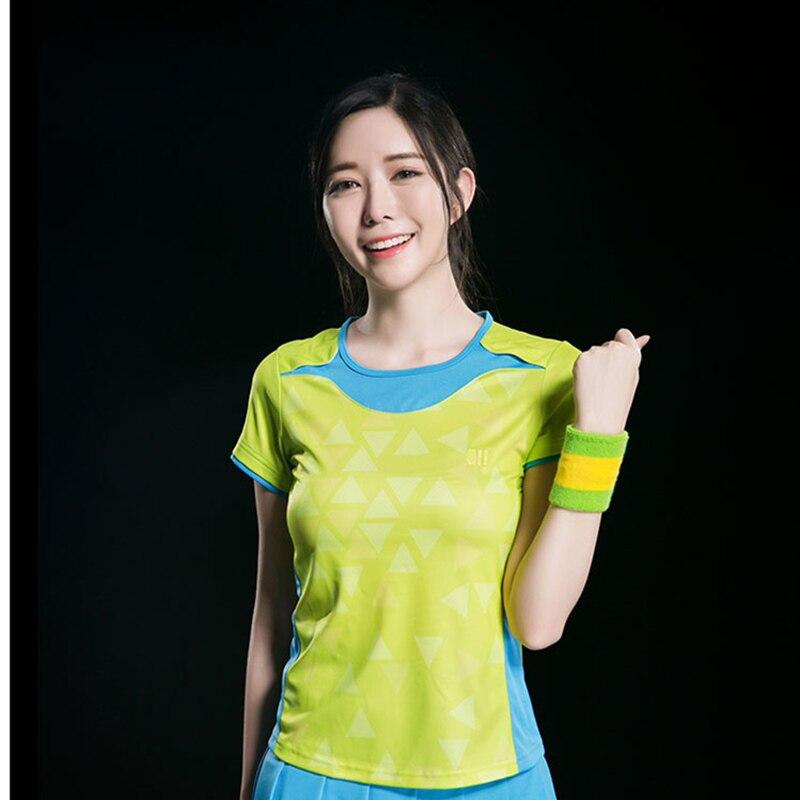 Chemise de Badminton chemises de sport à manches courtes maillot de Tennis de Table grande taille respirant séchage rapide femmes t-shirt 21136
