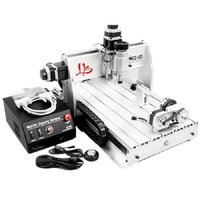 4axis 3D CNC Router 3040 Milling Machine with auto checking tool