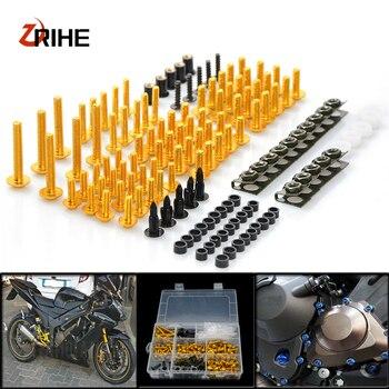 CNC Universal Motorcycle Fairing/windshield Bolts Screws set For Kawasaki z1000sx z1000 sx z750r zx10r zx10 r zx6r zx636
