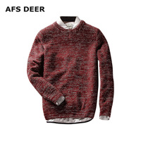 Mens Sweaters Solid Pullover Men O Neck Sweater Male Long Sleeve Shirt Wool Casual Dress Brand