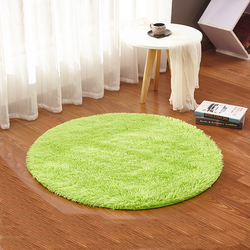 Round Rug Carpets Yoga Living Room Kilim Faux Fur Carpet Kids Room rugs Soft and fluffy Warm and comfortable wash