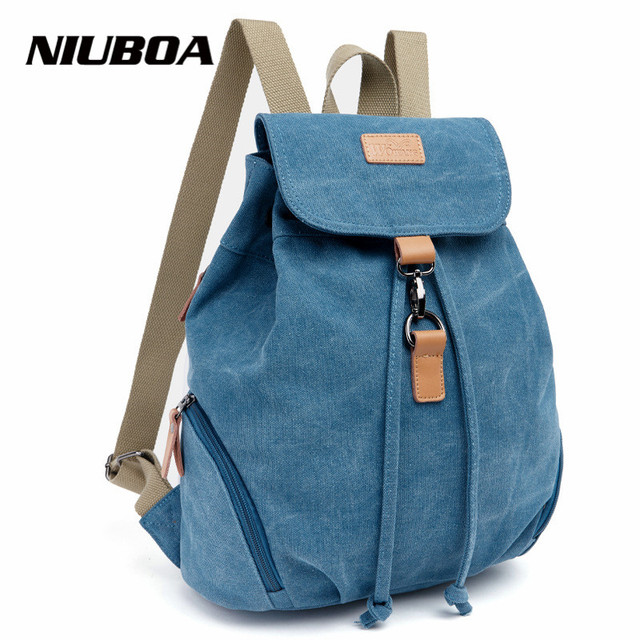Hot Canvas Backpack For School Student Girls Stylish Fashion Women Vintage Satchel Rucksack Arcuate Shoulder Strap Backpack