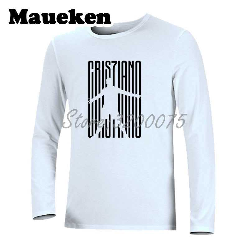 43e5e36b6 ... Men Cristiano Ronaldo 7 CR7 JUVE Welcome To Long Sleeve T-Shirt Clothes T  Shirt ...